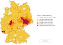 Deutschlandkarte mit Namensverteilung für Naumann