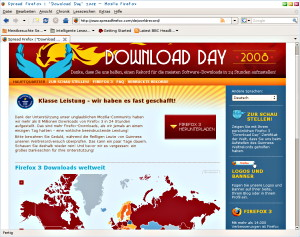 Firefox 3 Download Weltrekord