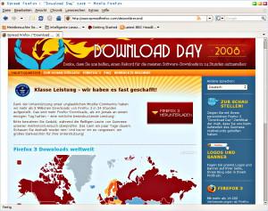 Firefox 3 Download Weltrekord