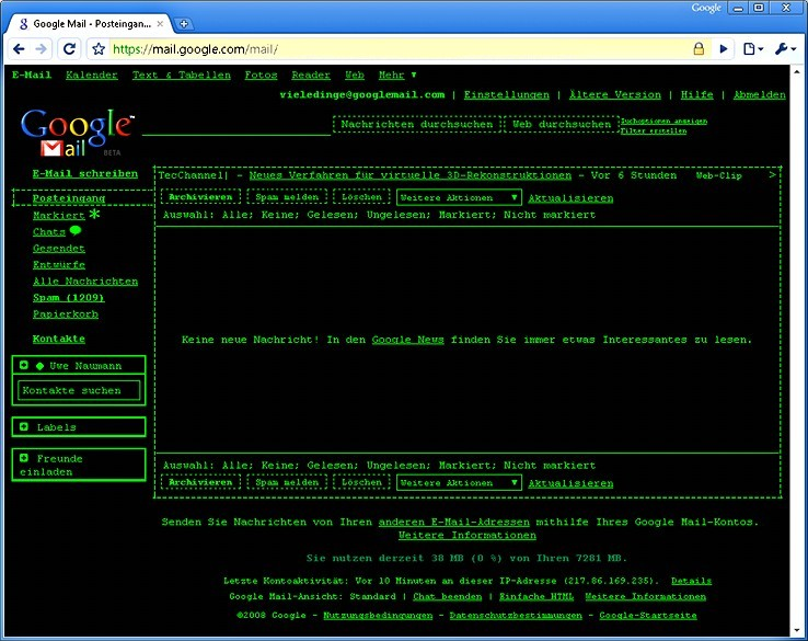Google Mail im Terminal