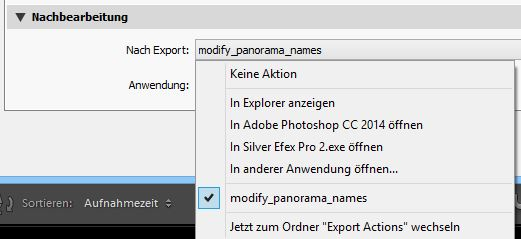 Export-Scripte in Lightroom