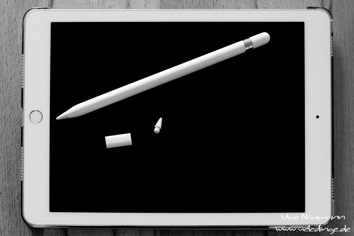 iPad und Pencil samt Zubehör